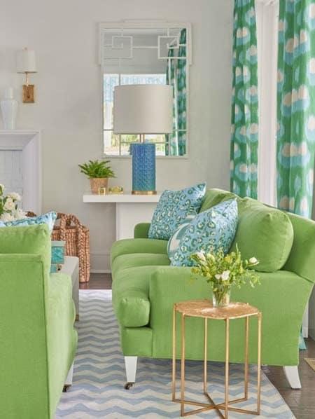 Pantone story - living room